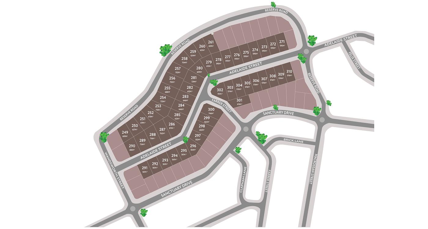 The Summit at Cranley Map